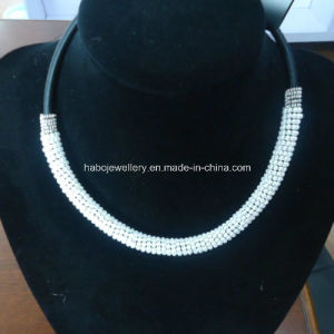 Small Cute Round Pearl with Thread Necklace (XJW13367) pictures & photos