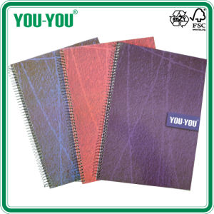 Single Spiral Hard Cover Notebook 40-200 Sheets Three Colors