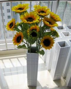 China 3 yellow sunflowers long stems wedding bouquet silk 3 yellow sunflowers long stems wedding bouquet silk centerpieces flowers decor mightylinksfo