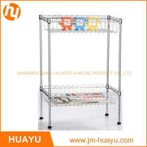 2 Tier Home Storage Display Shelving Wire Rack pictures & photos