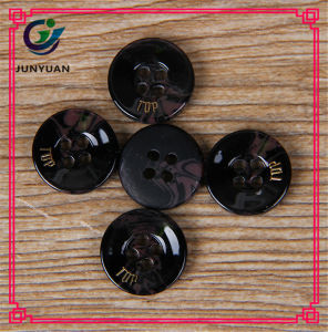 Black Lettering 4holes Button High-Grade Resin Suit Shirt Buttons pictures & photos