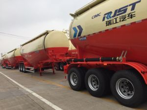 3 Axle Cement Bulk Tank Semi Trailer Powder Tank