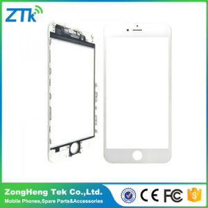 White Phone Front Glass with Frame for iPhone 6s Plus