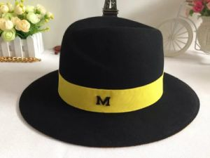 87b9451d61e02 China Wholesale Wool Felt Wide Brim Black Fedora Hats for Men ...