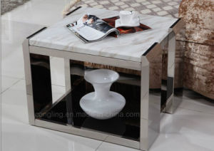 Modern Bedside End Table Stainless Steel Side Table