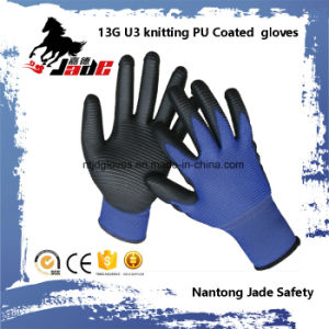 13G U3 Knitting PU Coated Glove pictures & photos