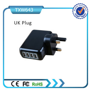 Rcm Certificate 4 USB Port Universal Plugs 5V 4.2A Mobile Travel Charger