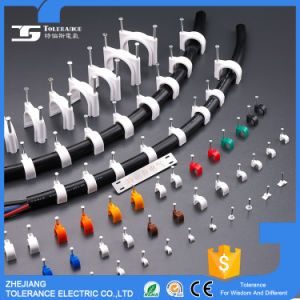 Plastic Nail Round Cable Clip