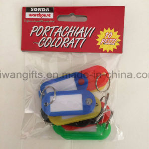 Wholesale Name Label Tag, Plastic Key Tag with Split Keyring pictures & photos