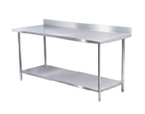 Restaurant Hotel Furniture Kitchen Work Table Stainless Steel Shelf Table