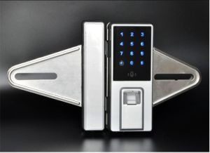 Hot Sell Fingerprint Glass Door Lock with Deadbolt Lock pictures & photos