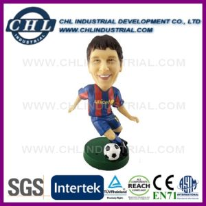 Environmental Soccer Player Custom Polyresin Bobble Head with En71 Certification pictures & photos