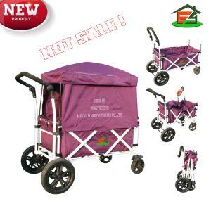 China Folding Wagon Portable Cart Shopping Cart Trailer