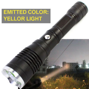 300metres Long Distance Light Range High Power Yellow Light Color Torch Hunting Flashlight