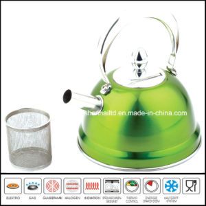 High Quality Color Stainless Steel Tea Kettle 1L with Filter pictures & photos