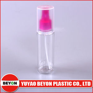 120ml Round Plastic Cosmetic Bottle with Sprayer and Full Cap