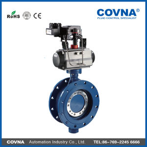 Cast Iron Positioner Pneumatic Butterfly Valve