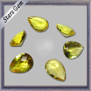 Bright Yellow Pear Cut Low Price Cubic Zirconia CZ Stone pictures & photos