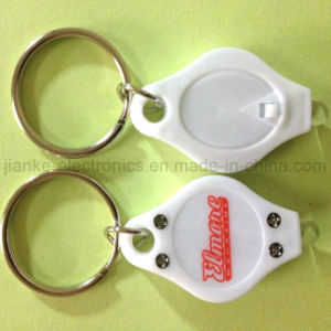 Factory Price LED Keychain Light with Logo Print (3032)