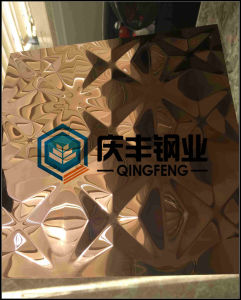 3D Stereoscopic Stamping Color Coated Decoration Stainless Steel Sheet (A114)