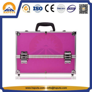 Silver Beauty Cosmetic Case with Aluminum Frame (HB-1201) pictures & photos