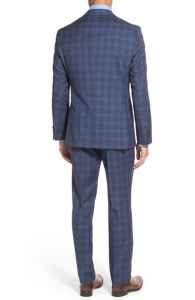 OEM Wholesale Morden-Cut Slim Trim Fit Men′s Windowpane Suits pictures & photos