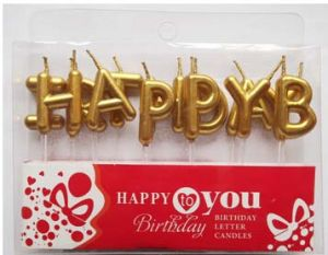 China Happy Birthday Letter Candle