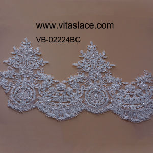 Factory Bridal Lace Trim for Wedding Dress Vb-0224bc