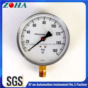 6 Inch 160 Psi Common Gas or Liquid Pressure Gauges with Brass Hpb59-1 Connector pictures & photos