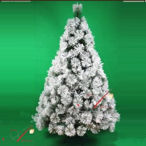 18m flower shape flocked white xmas tree christmas trees decorations