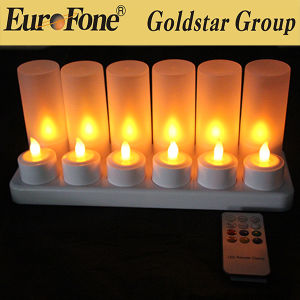 Polychrome Rechargeable LED Candle Tealight pictures & photos