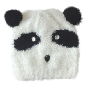 Acrylic Knitted Hat in Panda Pattern