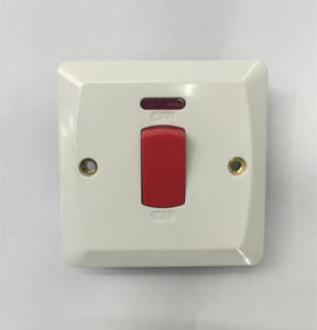 1 Gang 45A Switch with Neon Bakelite