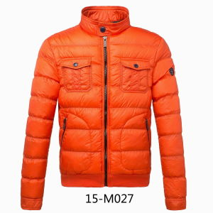 Calandered Nylon Winter Padding Men Jacket (15-M027) pictures & photos