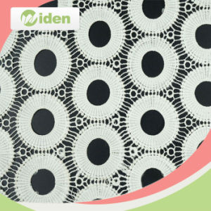 Fancy 100 Milky Polyester Material Chemical Cord Lace Fabric pictures & photos