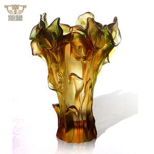 China Luxury Daum Crystal Callalily Flower Vase Home
