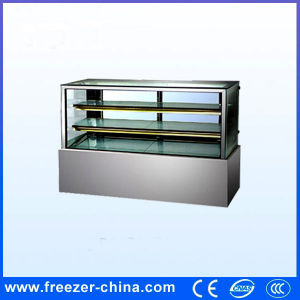 Right Angle Ce Approved Stainless Steel Cake Display Refrigerator Fridge pictures & photos