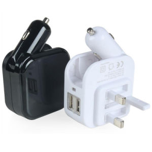 Portable UK Plug Wall Charger Adapter Smart Car Charger