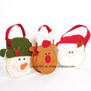 Christmas Snowman and Deer Bag with Felt Fabric pictures & photos