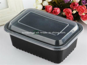 1000ml 1 Compartment Stackable Meal Prep Plastic Food Container pictures & photos