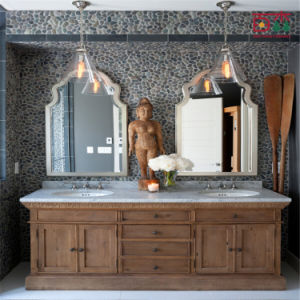 Wall Standing Bathroom Cabinet with Mirror pictures & photos