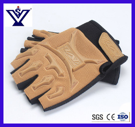 Survival Police Tactical Fighting Combat Half Finger Gloves (SYSG-1890) pictures & photos