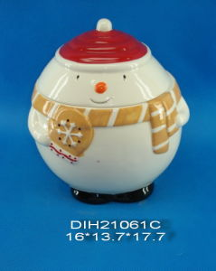 Hand-Painted Ceramic Snowman Cookie Jar pictures & photos