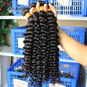 Deep Wave Brazilian Virgin Hair Bundles Cheap Wholesale Human Hair Extensions