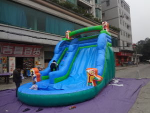 Kid Outdoor Funny Big Jungle Inflatable Water Slip N Slip Games pictures & photos