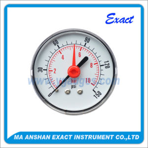 Double Needle Pressure Gauge-Pressure Gauge with Alerm-Red Pointer Manometer