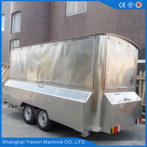 Ys-Fv450A 4.5m Stainless Steel Mobile Restaurant Mobile Food Car for Sale pictures & photos