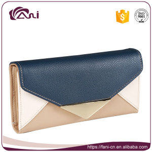2017 Fashion Envelope PU Leather Girls Purse pictures & photos