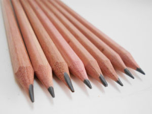 Cork Wood Pencil with Eraser Hb Pencil Natural Wood Pencil pictures & photos
