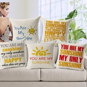 Custom Cotton Linen Leaning Cushion Throw Pillow Covers Pillowslip Case pictures & photos